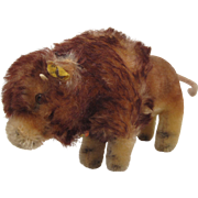 Steiff's Smallest Bison With All IDs.