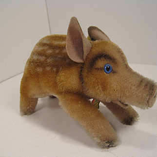 Steiff's Smallest Mohair Wild Boar With All IDs
