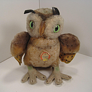 Steiff's Larger Wittie Owl With ID