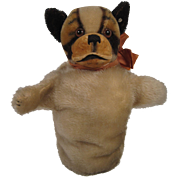 Steiff's Bully Dog Puppet With ID