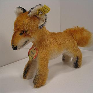 Steiff's Medium Sized Standing Xorry Fox With All IDs