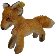 Steiff's Medium Sized Standing Xorry Fox With All IDs