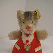 Steiff's Cat Nightcap Doll With All IDs