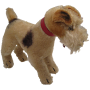 Steiff's Medium Sized Standing Fox Terrier With IDs