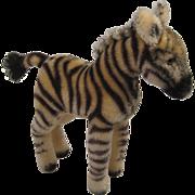 Steiff's Smaller Mohair Zebra With ID