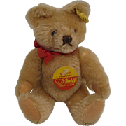 Steiff's Small Blonde Mohair Mask Style Teddy Bear With All IDs