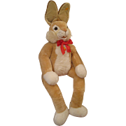 Steiff' ENORMOUS Dangling Plush Lulac Rabbit With All IDs