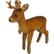 Steiff's Large and Handsome Mohair Roebuck Deer With All IDs