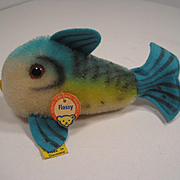 Steiff's Smallest Blue Mohair Flossy Fish With All IDs