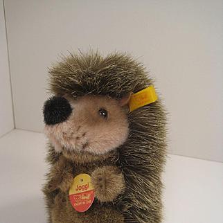 Steiff's Soft Plush Joggi Hedgehog With All IDs