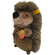 Steiff's Soft Plush Joggi Hedgehog With All IDs