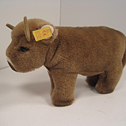 Steiff's Soft Plush Bessy Cow With All IDs