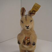 Steiff's Smallest Linda Kangaroo With All IDs