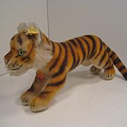 Steiff's Medium Running Tiger Cub With All IDs