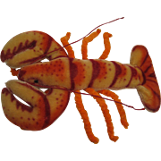 Steiff's Extremely Rare Largest Mohair Crabby Lobster With IDs
