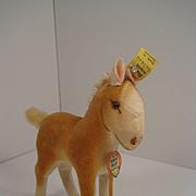Steiff's Small Velvet Pony Foal With All IDs