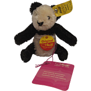 Steiff's Smallest Mohair FAO Schwarz Panda With All IDs