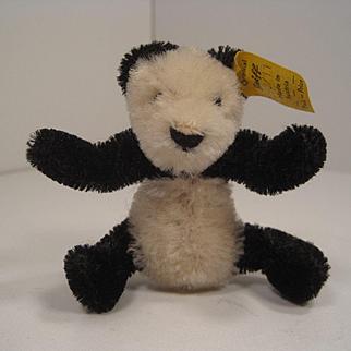 Steiff's Smallest Mohair FAO Schwarz Panda With IDs