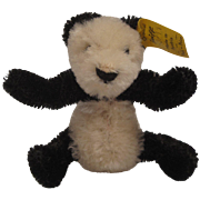 Steiff's Smallest Mohair FAO Schwarz Panda With IDs - Red Tag Sale Item