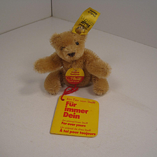 Steiff's Tiny and Precious Blonde Bendy Style Teddy Bear With All IDs and More