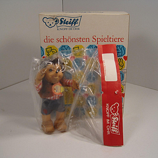 Steiff's Smallest Macki Hedgehog Doll With All IDs In Original Packaging
