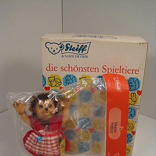 Steiff's Smallest Mucki Hedgehog Doll With All IDs In Original Packaging