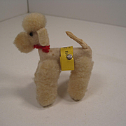 Steiff's Teeny Tiny Woolen Miniature and Felt Poodle With All IDs