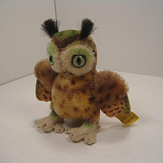 Steiff's Smallest Wittie Owl With Two IDs