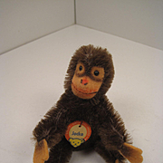 Steiff' Smallest Bendy Style Jocko Monkey With 2 IDs