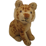 Steiff's Early Postwar Wool Plush Young Lion With ID