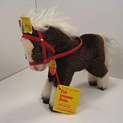 Steiff's Smallest Mohair Ferdy Play Horse With All IDs
