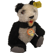 Steiff's Tiniest Fully Jointed Mohair Panda With All IDs and EXTRA BUTTON