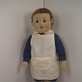 Steiff's Lovely And Very Early Fully Jointed Felt Doll With ID