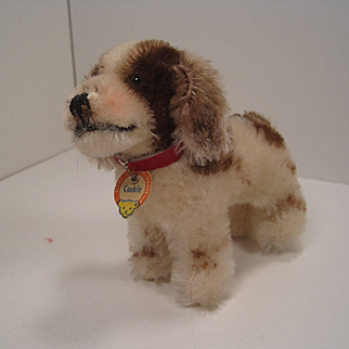 Steiff's Smallest Brown and White Standing Cockie Cocker Spaniel With All IDs