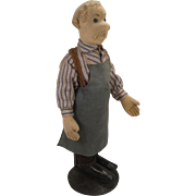 Steiff's Early and All Original Shoemaker Felt Doll With ID