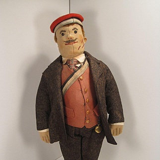 "Steiff's Remarkable Early and Original Felt ""Student"" Doll"