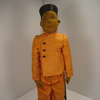 Steiff's Absolutely Phenomenal And Equally Rare Chinese Acrobat Doll With ID