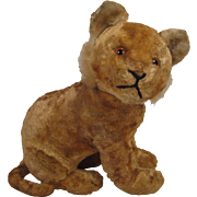 Steiff's Lovely And Gentle Early Postwar Artificial Silk Plush Young Lion Cub With ID