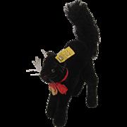 Steiff's Medium Sized Black Tom Cat With All IDs