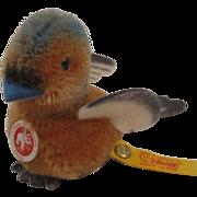 Steiff's Tiny and Adorable Mohair and Felt Snucki Songbird With All IDs