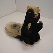 Steiff's Undocumented Mystery Begging Mohair Skunk with ID