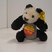 Steiff's Tiny Mohair Panda For FAO Schwarz With All IDs