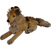 Steiff's Smallest Lying Mohair Collie Dog With All IDs