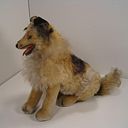 Steiff's Largest Sitting Mohair Collie With ID