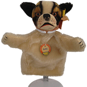 Steiff's Bully the Bulldog Puppet With All IDs