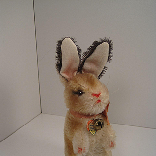 Steiff's Early Post War Begging Mohair Rabbit With ID