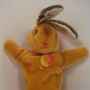 Steiff Rabbit Hand Puppet In Like New Condition With All IDs