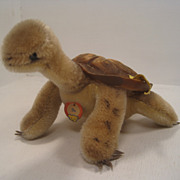 Medium Sized Steiff Slo Turtle With All IDs