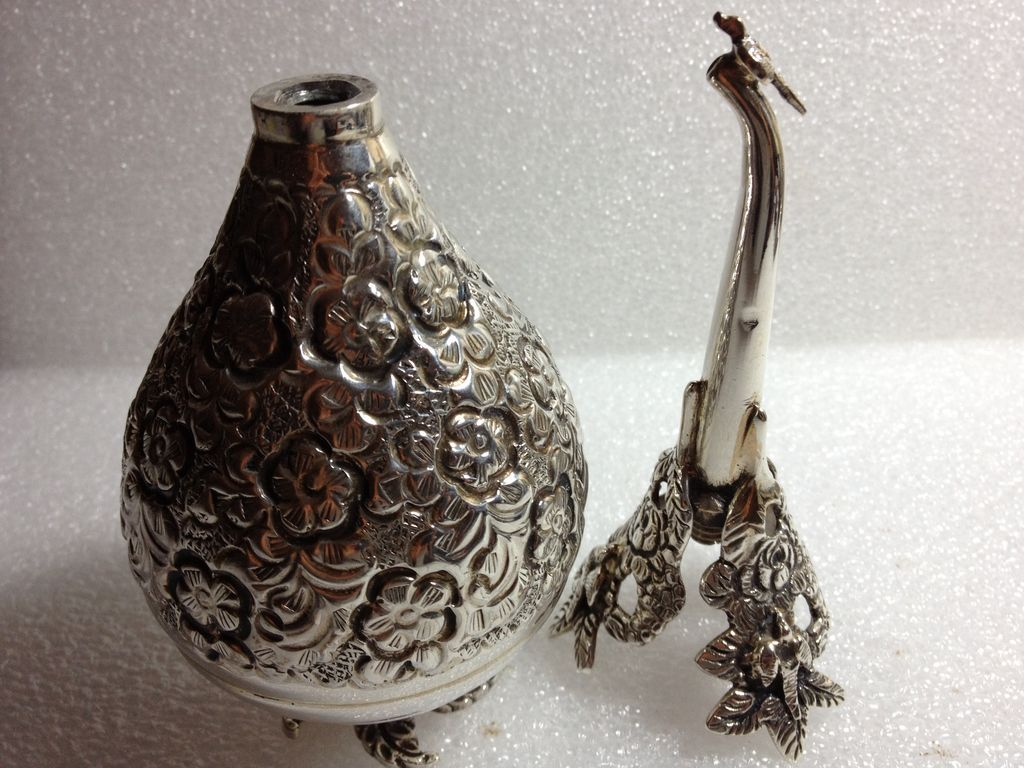 Very ornate 900 silver aromatizer made in Egypt