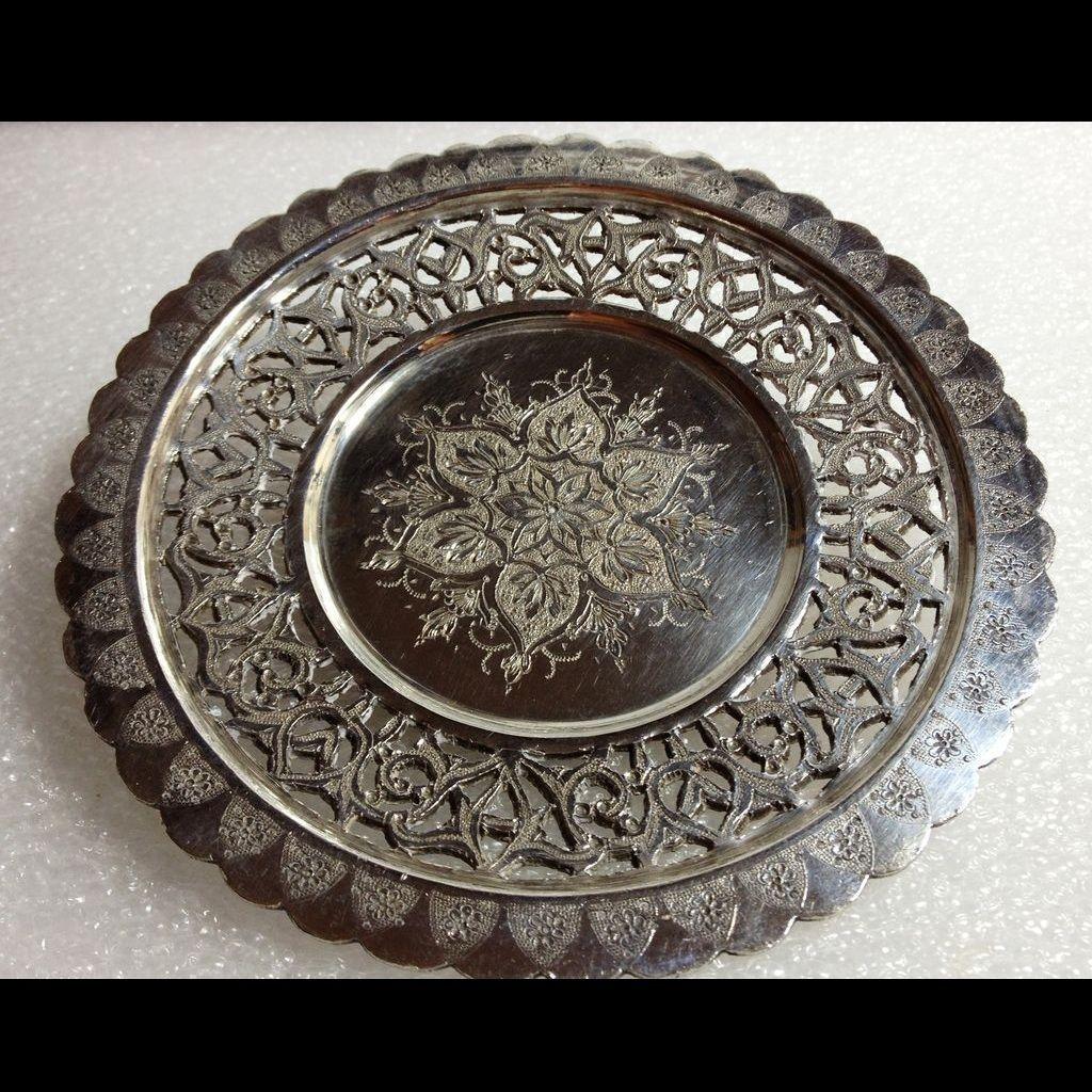 Iranian 875 silver dish